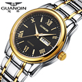 Luxury Brand GUANQIN Sports Watch Men Quartz Watches 30 m Waterproof Dress Luminous Watches Stainless Steel Wristwatch for Men