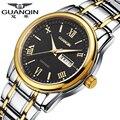 Luxury Brand GUANQIN Sports Watch Men Quartz Watches 30 m Waterproof Dress Luminous Watches Stainless Steel Wristwatch for Men