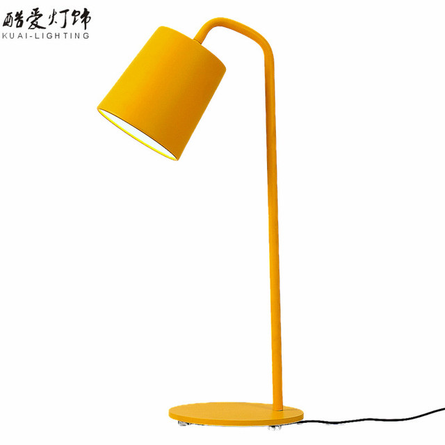 Novel Table Lamp Desk Lamp For Study Room E27 540mm Height Iron Black/White/Yellow Home Decoration Bedside Reading lamp WTL002