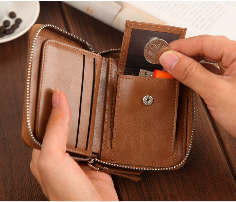 New brand women wallet vintage small short clutch card purse Fashion Sweetheart Purse for female zipper wallet with coin pocket