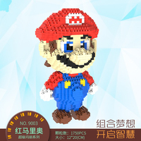 Free shipping education toys Small diamond particle puzzle puzzle toy super Mario totoro children's gift
