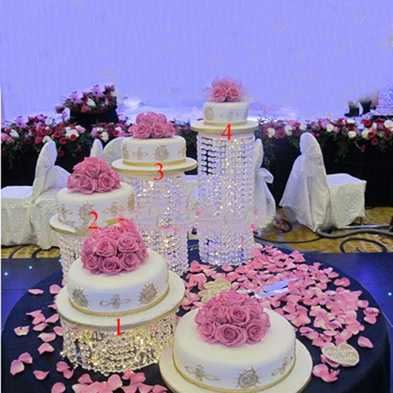 3 pcs 6 pcs di alta qualità di Cristallo trasparente del basamento della torta acrilico Romantico decorazione di cerimonia nuziale-in Supporti da Casa e giardino su  Gruppo 1