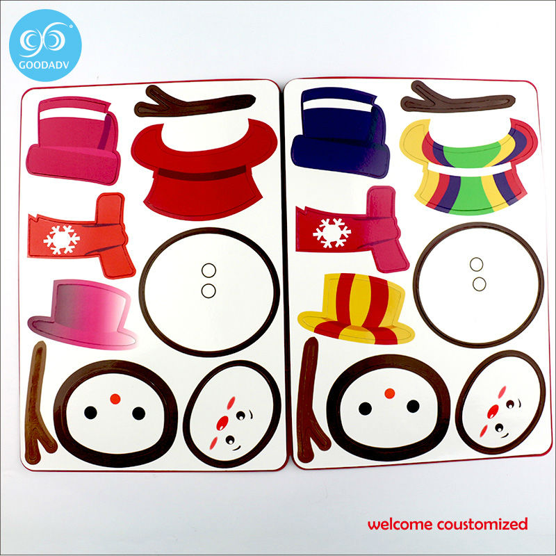 Magnetic Puzzles series little sheep christmas snowman fashion girls dress up game jigsaw puzzle toy 8 styles New Arrivals