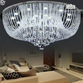 Круглый светодиодный хрустальный светильник  Хрустальный потолочный светильник для гостиной  спальни  современный кристалл  высокое качес...