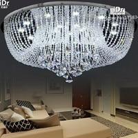העגול אור LED קריסטל גביש מודרני חדר שינה סלון תקרת מעבר גביש באיכות גבוהה D800xH340mm