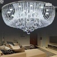 Rotondo LED Crystal Light corridoio di Cristallo del soffitto soggiorno camera da letto moderna di cristallo di alta qualità D800xH340mm-in Plafoniere da Luci e illuminazione su