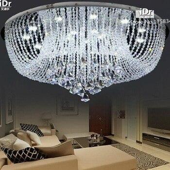 Runde Led-kristall Licht Kristall gang decken wohnzimmer schlafzimmer moderne kristall hohe qualität D800xH340mm