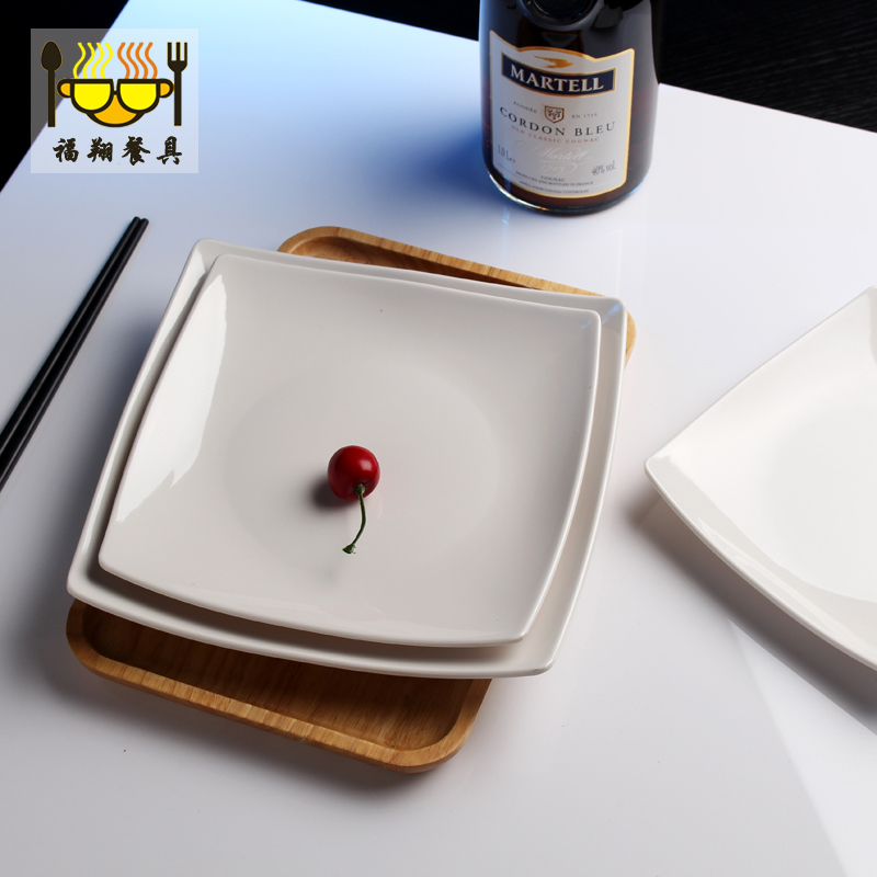18 24cm 4pcs/lot A5 high grade Plastic Square Dinner Plates White Melamine Tableware Fast Food Dish Flat Food Plate Dish-in Dishes \u0026 Plates from Home ... & 18 24cm 4pcs/lot A5 high grade Plastic Square Dinner Plates White ...