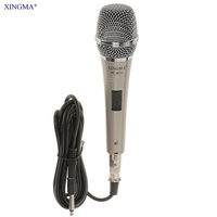 PC M10 Handheld Karaoke Microphone Condenser For Vocals Metal Body Mesh Guard Professional Wired Microphone For