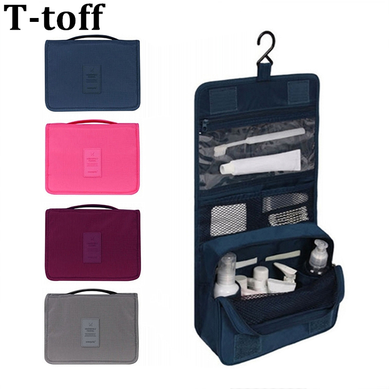 Travel set High quality waterproof portable man toiletry bag women cosmetic organizer pouch Hanging wash bags(China)