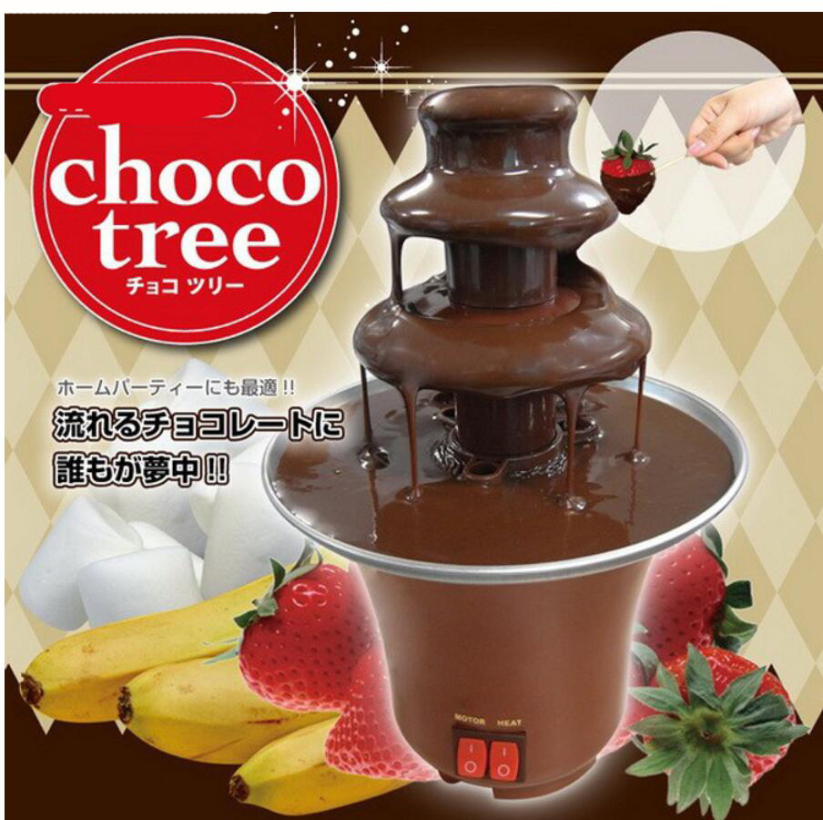 Chocolate Fountain Machine Fondue Maker Heated 3-Tier Home Household Chocolate Tempering Machine Шоколадный фонтан