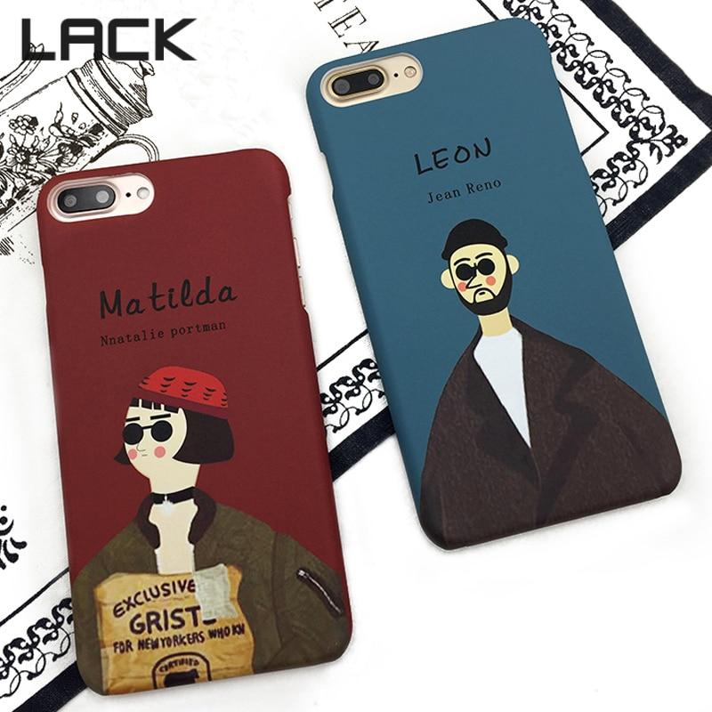 LACK Fashion Cartoon Professional Killer Leon och Mathilda Cover för - Reservdelar och tillbehör för mobiltelefoner - Foto 2