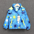Детская куртка для девочек с длинным рукавом ветровка тонкий Пальто Хлопка star Детские детская куртка С Капюшоном теплая Одежда для дети