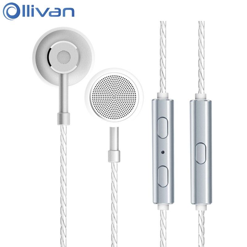 Ollivan Type C Flat Head Plug Earplugs Metal Earphone Digital Music Type-C Headsets Noise Canceling Earphones For Xiaomi Huawei