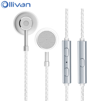 Ollivan Type C Flat Head Plug Earplugs Metal Earphone Digital Music Type C Headsets Noise Canceling
