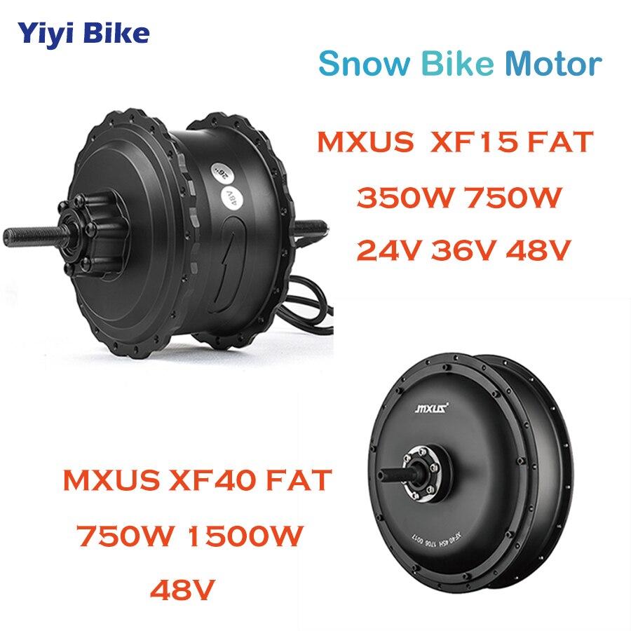 MXUS BLDC Hub Motor Electric Bike 24V 36V 48V 350W 750W 1500W DC Brushless Motor Rear Wheel Snow Bike Gear Motor Conversion Kit