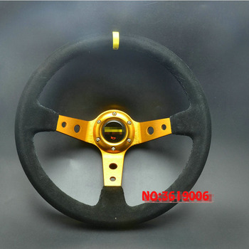 TOMMIA Universal 350 MM volante de cuero de gamuza mitin marco de aluminio para carreras volante de maíz profundo a la deriva