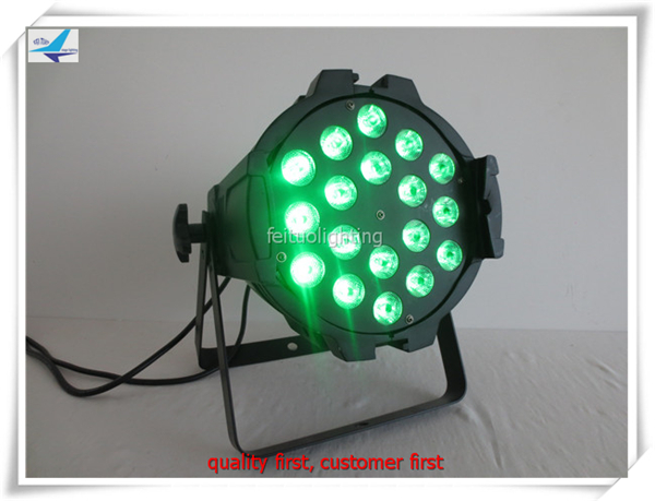 16pcs/lot free shipping 18 led par rgbw 4in1 dmx led par can lighting led par 64 stage light
