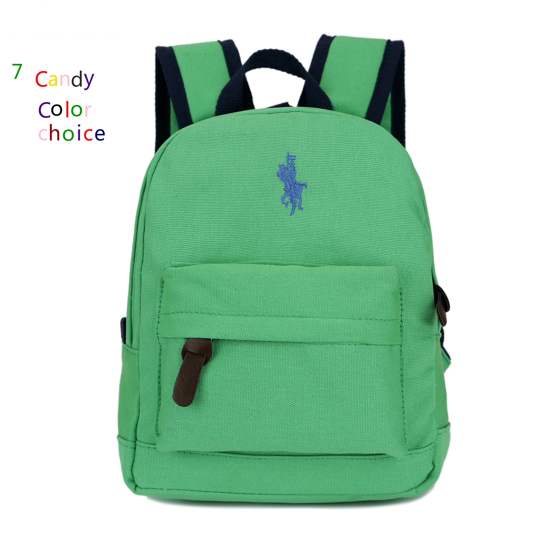 2017 High Quality Polo Baby Girl Backpack Cotton Canvas Small Backpacks Kindergarten Mochila Escolar Menino School Bags