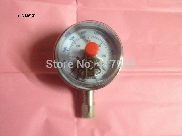 ACUTEK Original exports Stainless steel Electrical contacts Gauge YXC100BF 400bar NPT1/2 Pressure Gauge  цены