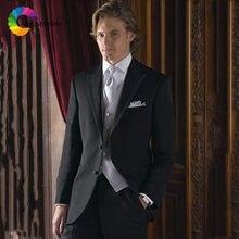 2019 приталенная черная Бриллиантовая одежда для жениха классический
