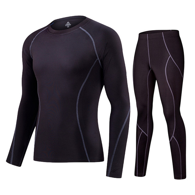 Roupa interior térmica dos homens esportes execução roupas camada de base  dos homens esportes T- edc7a20a4c224
