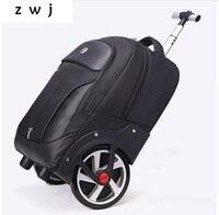 Новый дизайн сумка с колесами большое колесо дорожная сумка для мужчин/женщин большой емкости чемодан переноска дорожная сумка