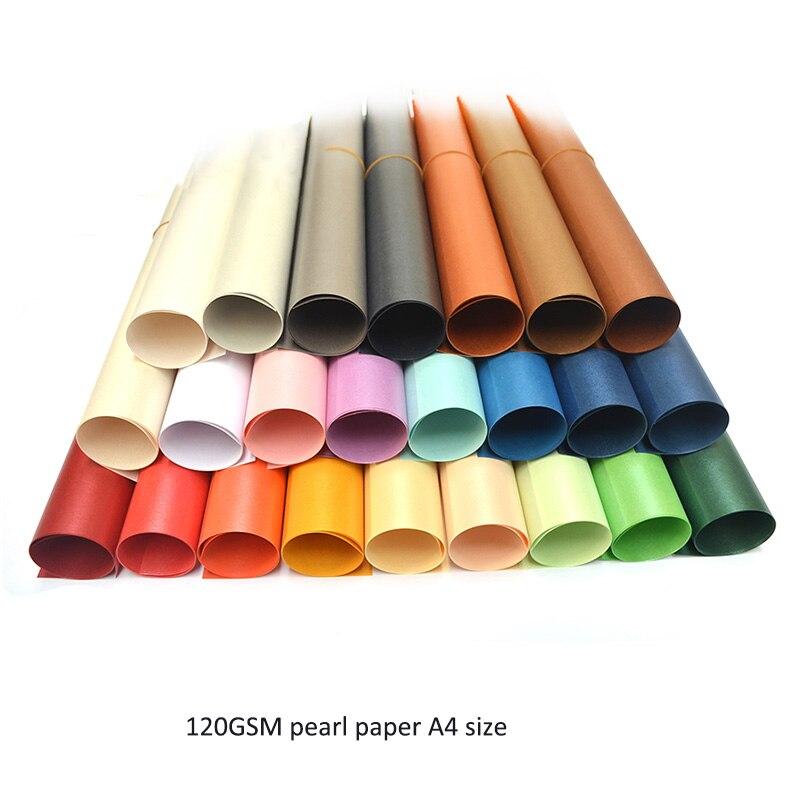 100 pièces livraison gratuite A4 taille 21x29.7cm 120gsm double surfaces papier perlé 16 couleurs pour choisir, bricolage emballage cadeau-in Partie BRICOLAGE Décorations from Maison & Animalerie    1