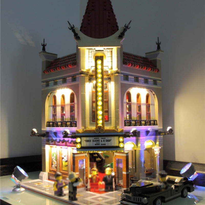 Led Light Set For Lego 10232 Building Blocks City Street Creator Palace Cinema Toy Compatible 15006 Bricks City Street Lighting crystal palace stoke city