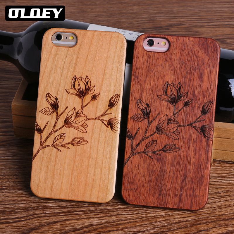OLOEY Dollar Money Floral Music Smile Real Wood Phone Case For iPhone6 6Plus 7 7Plus 8 8Plus X SAMSUNG S8 S9 Plus Fundas Capas