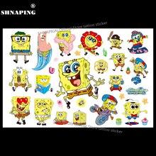 SHNAPIGN SpongeBob Child Temporary Body Art Flash Tattoo Sticker 10x17cm Waterproof Henna Fake Tatoo Styling Tattoo Sticker