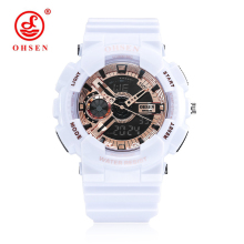 OHSEN Multifunction Dual Time Display Women Digital Watches Sport Waterproof Watch Children Boy Light Quartz Wrist Watch montre все цены