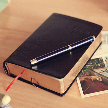 RuiZe Leather Bible notebook diary notepad pocket book thick paper black notebook  blank pages office school supplies note book vintage thick paper notebook notepad leather bible diary book zakka journals agenda planner school office stationery supplies