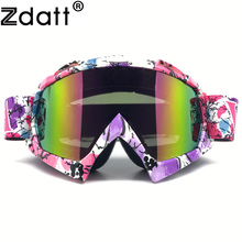 Zdatt Motocross  Motorcycle Goggles Pink Moto Glasses Fox Racing Ski Goggles Windproof Mx Goggles Antiparras Motocross New02