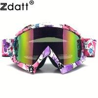 Zdatt Motocross Motorcycle Goggles Pink Moto Glasses Fox Racing Ski Goggles Windproof Mx Goggles Antiparras Motocross New02
