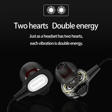 Red Black Bluetooth HIFI Stereo In-ear Earphone Dual Dynamic 4.1 Headset Earbud For Smartphone Ipod Laptop Sport Style