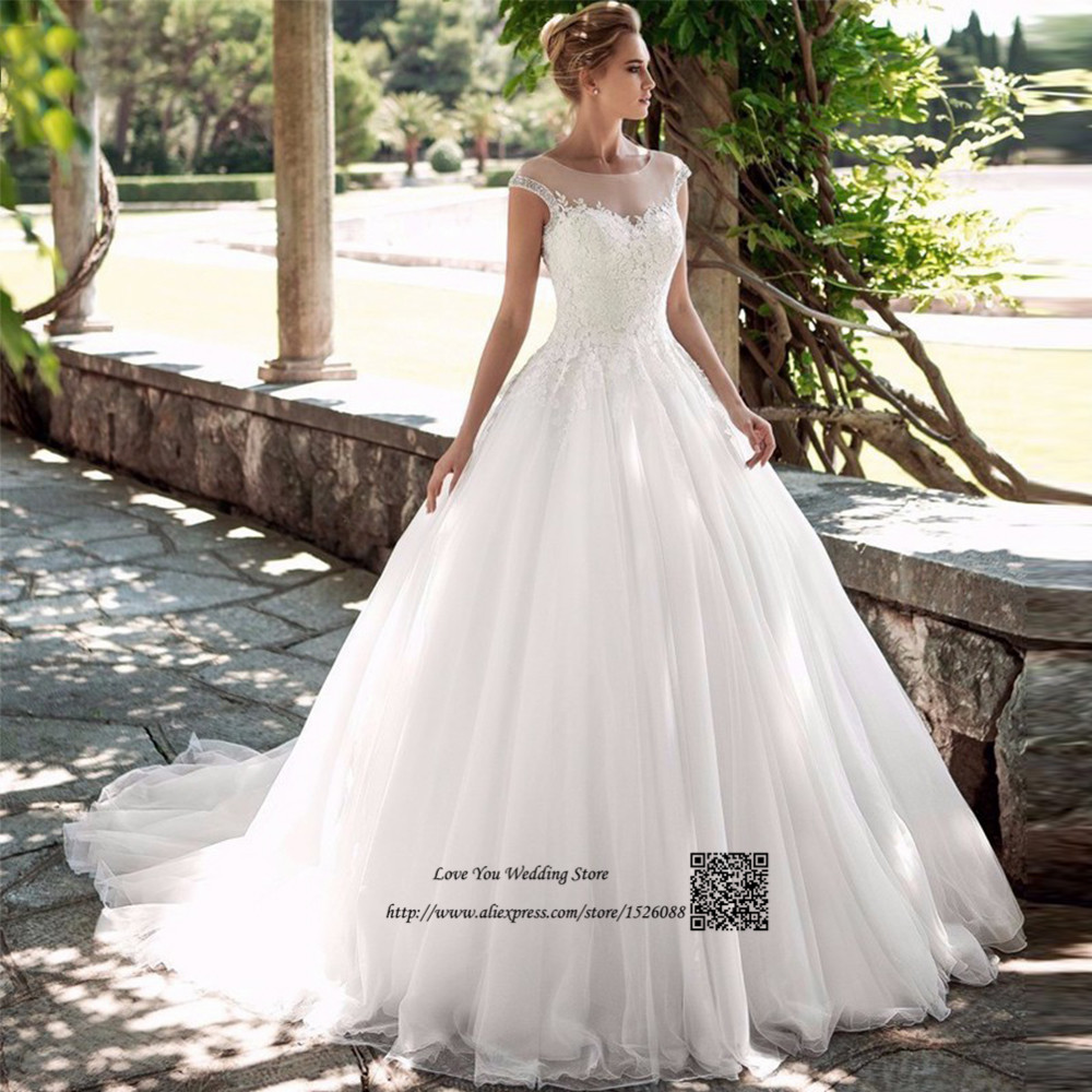 China Wedding Gown: Vestido De Noiva 2017 China Bridal Gowns Beaded Lace