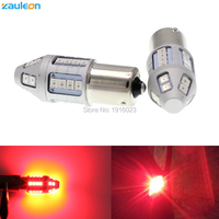 Zauleon 2pcs 1156 BA15S P21W LED Red Car Taillight Bulb Tail Brake Lights Lamps Rear Light