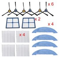 Staub Hepa filter Seite Pinsel Primäre filter Mop Pad Ersatz teil für ilife V8 V8s X750 X800 X785 V80 vakuum reiniger|Staubsauger-Teile|   -