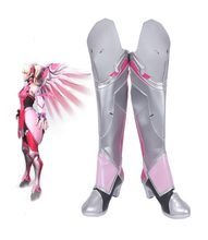 Game OW Genade Angela Ziegler Roze Huid Cosplay Laarzen Schoenen Halloween Party Props Custom Made(China)