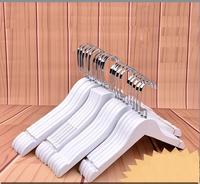 10 unids/lote 30 cm/44.5 cm blanco madera maciza de rack tienda de ropa de hotel ropa de madera caída anti- antideslizante percha pantalones CL
