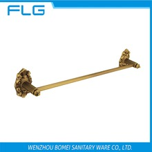 Free Shipping FLG100214 Towel Bar Wall Mounted Antique Brass Art Curving Base Single Bar Towel Bar,Bathroom Hardware Accessories