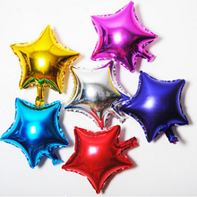 5pcs/lot 10 inch Five Star Promotion Colorful Air Foil Balloon For Party Supply Promotion  Birthday Advertising Wedding Balloon