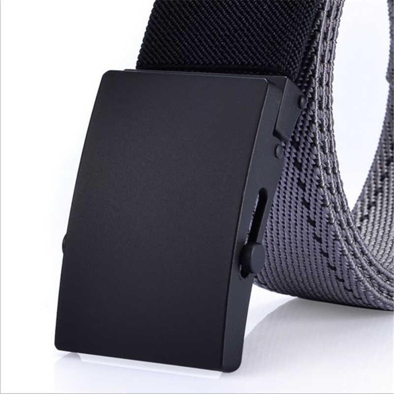 SupSindy мужской холщовый ремень из сплава с автоматической пряжкой нейлоновый военный пояс армейские тактические ремни для мужчин лучшее качество мужской ремень черный
