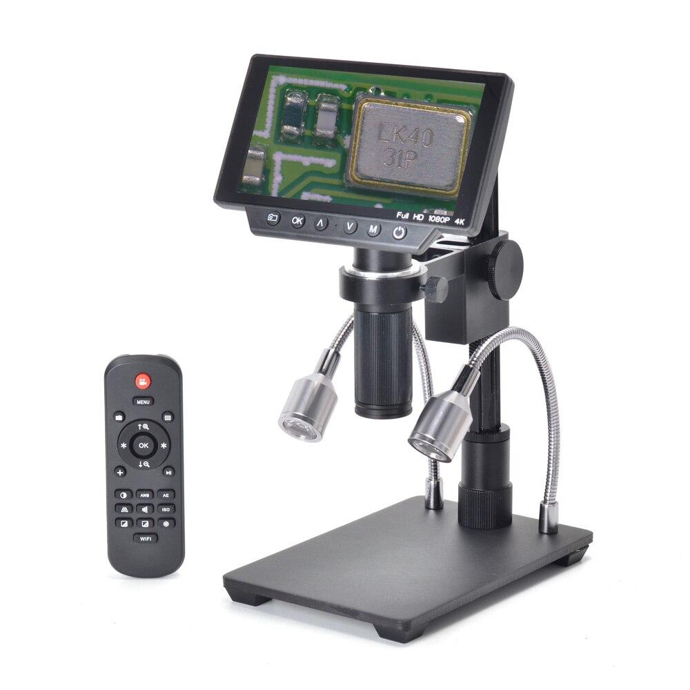 HAYEAR 16MP 4 K HDMI stéréo Microscope numérique caméra 150X c-mount 1080 P USB WIFI Microscope avec 5 écran LCD pour soudure THT