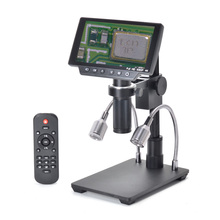 HAYEAR 16MP 4K HDMI Stereo Digital Microscope Camera 150X C-mount 1080P USB WIFI Microscope with 5 LCD Screen for THT Soldering scientific microscope c mount adapter 1x fitting for lei ca microscope adapter lei ca microscope c mount tv adaptor