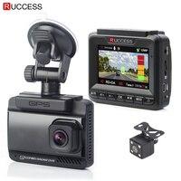 Ruccess 3 In 1 Car Radar Detecotr DVR GPS Speed Anti Radar Dual Lens Full HD