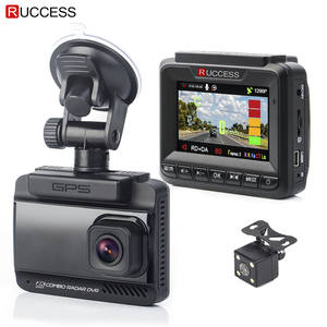 Ruccess 1296 P 1080 P Car Radar Detector HD DVR 3 in 1 170 Degree Video Recorder
