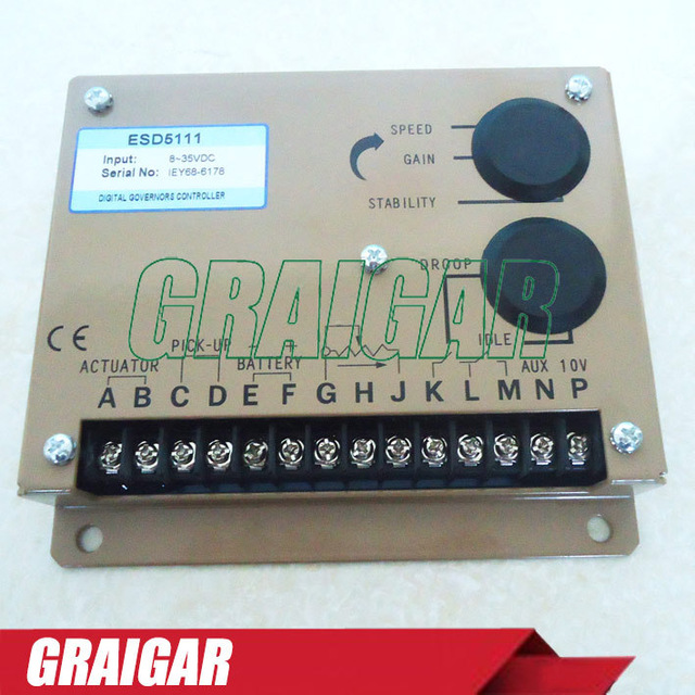 Engine Governor Speed Controller ESD5111 For Diesel Alternator Generator Parts generator speed controller 3098693