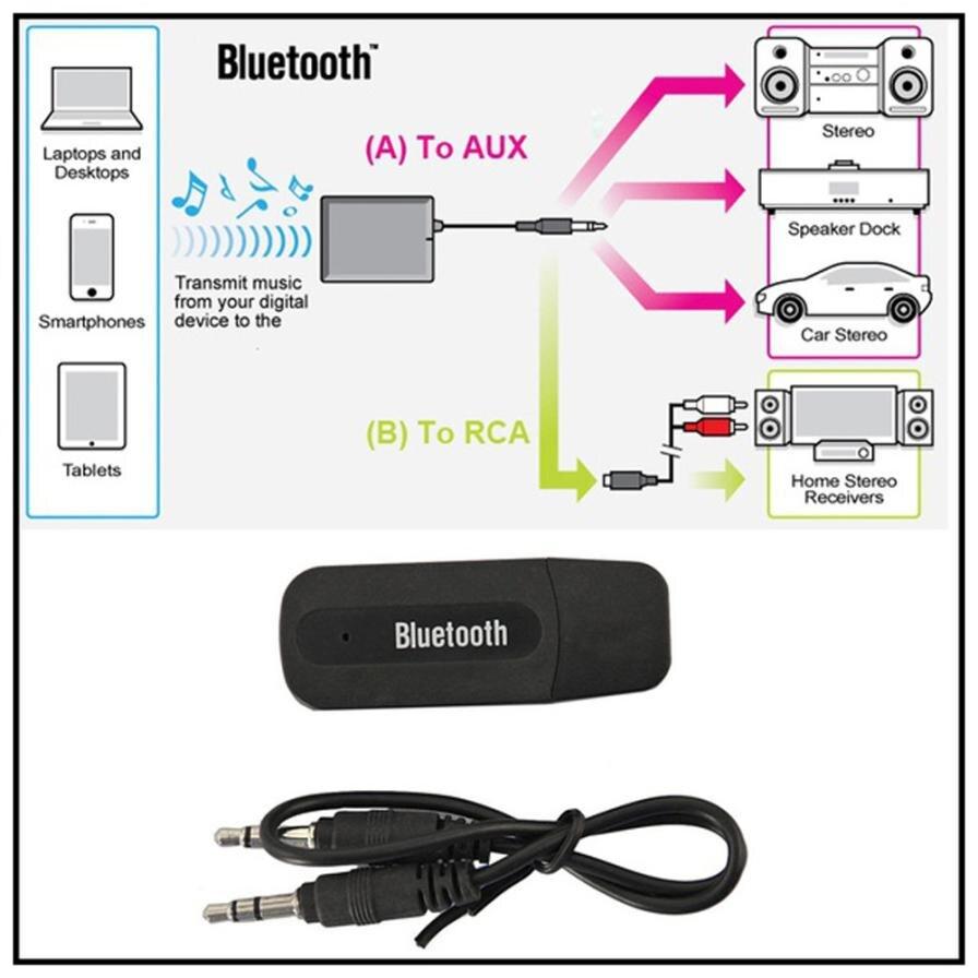 Carprie 2018 New 3.5mm Wireless <font><b>Bluetooth</b></font> 2.1 + <font><b>EDR</b></font> USB AUX Audio Music Receiver <font><b>Adapter</b></font> Convenience Dropshipping 18Mar6